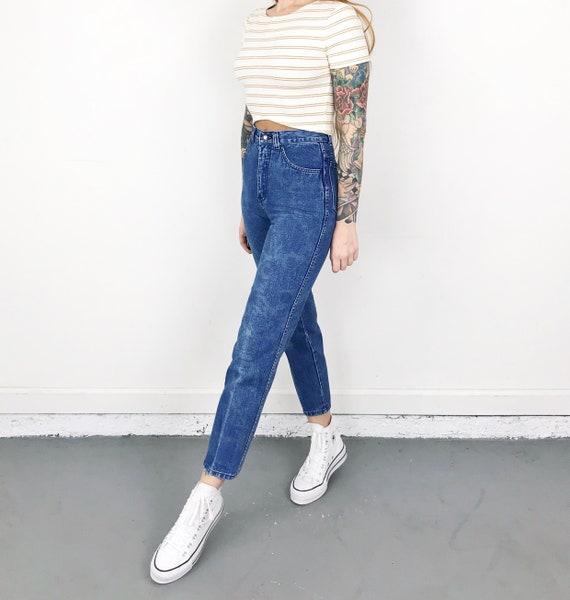 XXS Vintage Printed Jeans / Size 22 - image 3