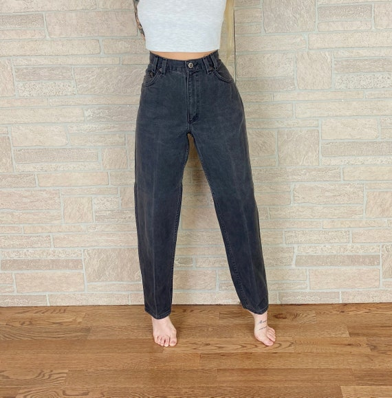 90's Relaxed Fit Faded Glory High Waisted Jeans / Size 26 27
