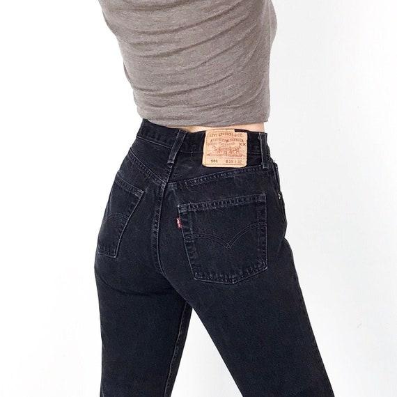 Levi's 501 For Women Black Jeans / Size 25 26