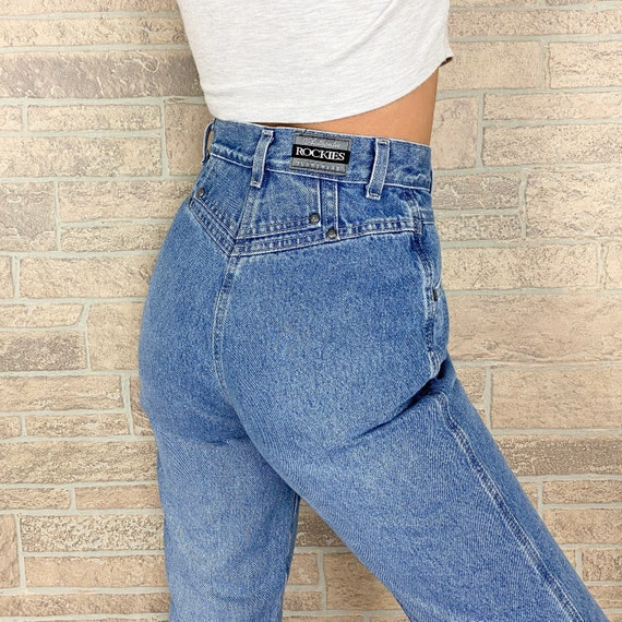 Rockies High Waisted Western Jeans / Size 24 25
