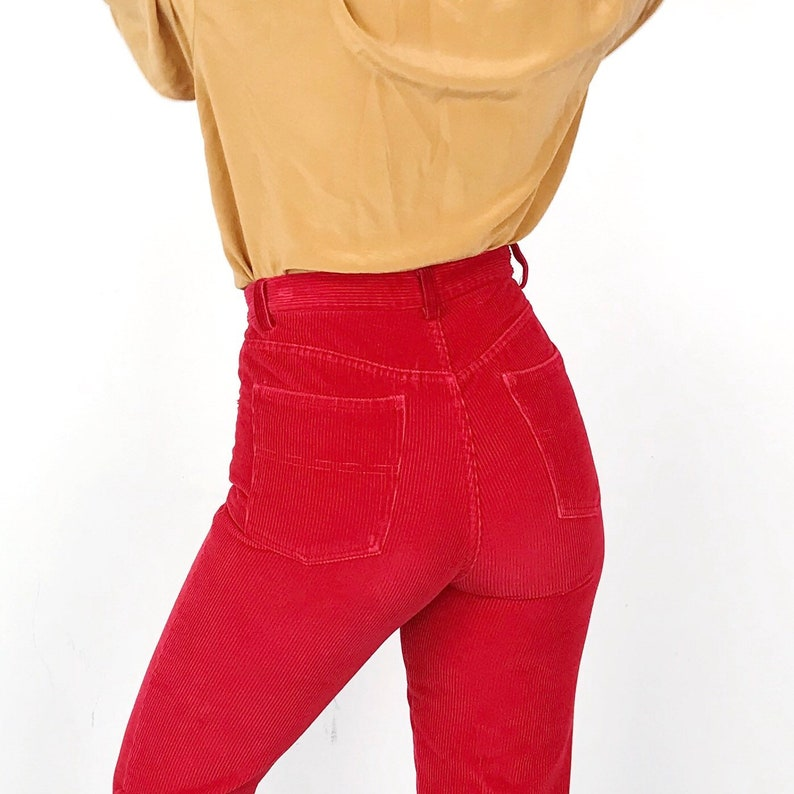 bac76d63e 70 s Ralph Lauren Made in USA Vintage High Waisted Bright