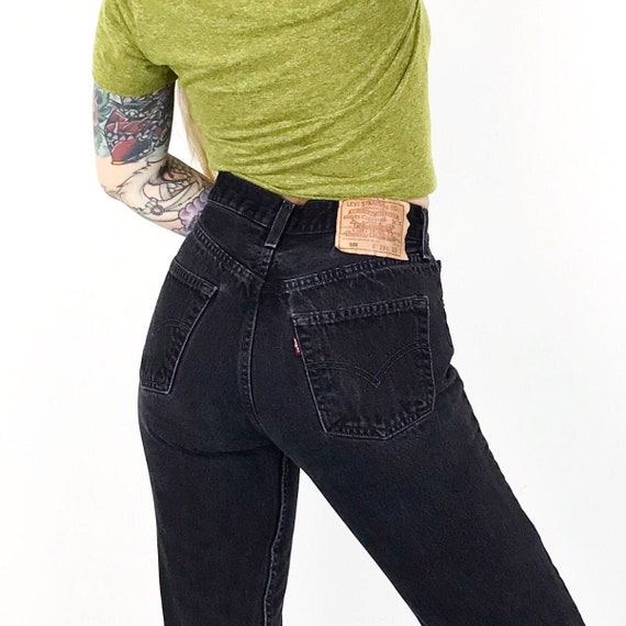 Levi's 501 Faded Black Jeans / Size 27