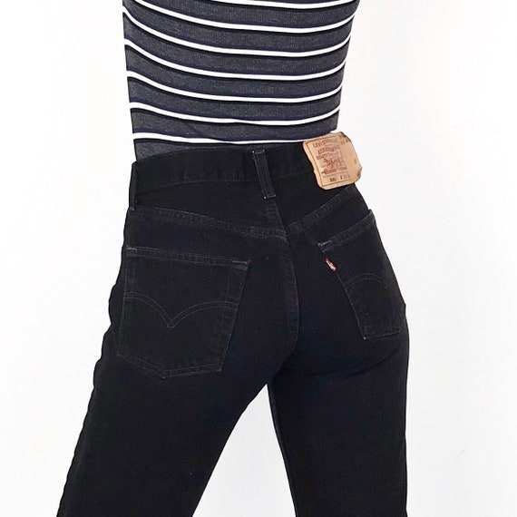 Levi's 501 Black Jeans / Size 25 26