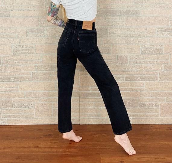Levi's 512 Black Jeans / Size 25 26 - image 3