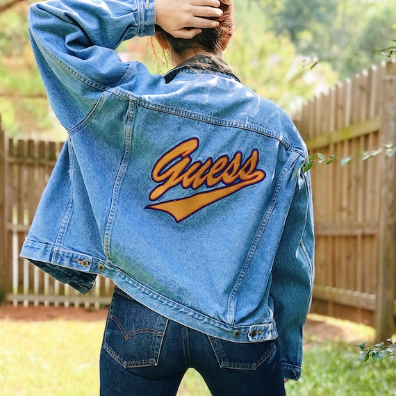 Guess Jeans Embroidered Denim Jacket