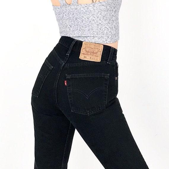 Levi's 501 Black Jeans / Size 24