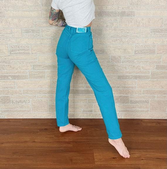Bongo Turquoise High Rise Jeans / Size 25