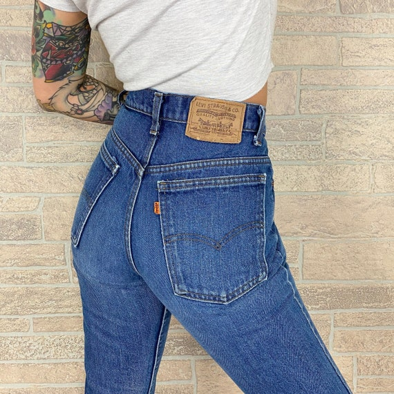 70's Levi's 517 Orange Tab Jeans / Size 27 28