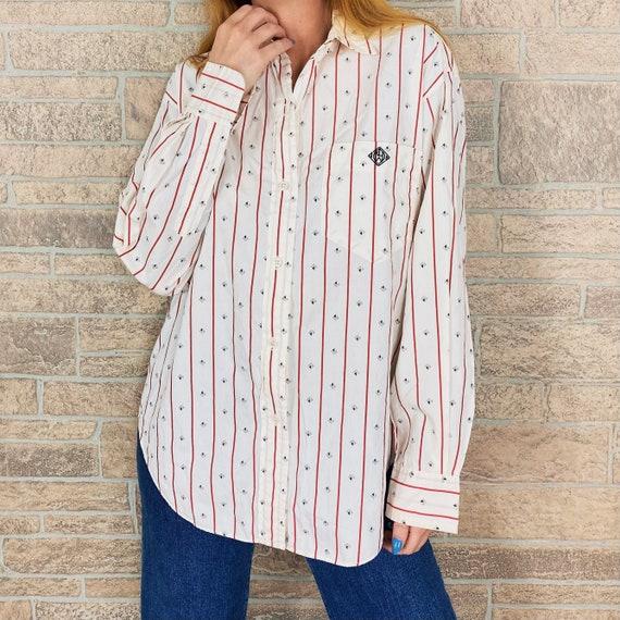 80's Ralph Lauren Pinstriped Button Up Shirt