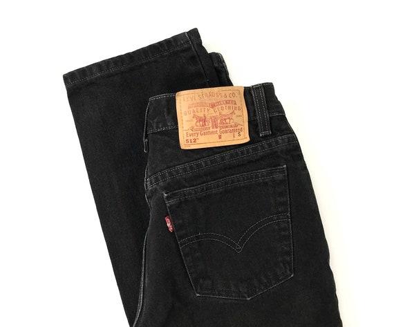 Levi's 512 Black Jeans / Size 25 26 - image 6
