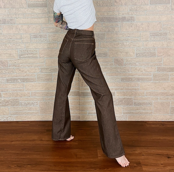 Vintage Gap Brown Flare Trousers / Size 28