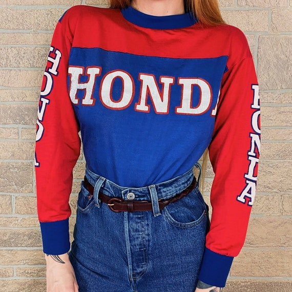 RARE 70's Vintage Honda Motocross Racing Jersey Shirt