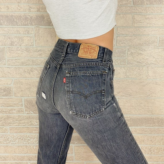 Levi's 701 Faded Distressed Jeans / Size 25