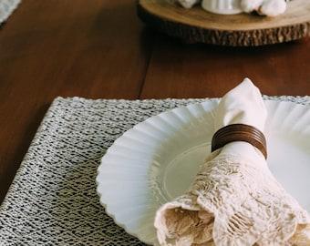 Hand Woven Gray Placemat, Neutral Cotton Mat, Modern Farmhouse Place mat, Reversible Placemat , Farmhouse Table, Price Per Each