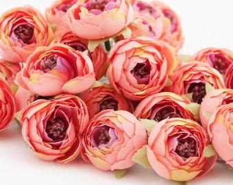 millinery flower ITEM 01305 silk artificial flower 20 Mini Ranunculus Buds in Wine