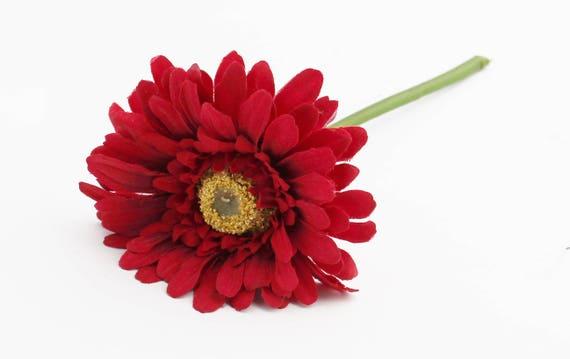 Red Gerbera Daisy Artificial Daisy Wedding Flower Crown | Etsy