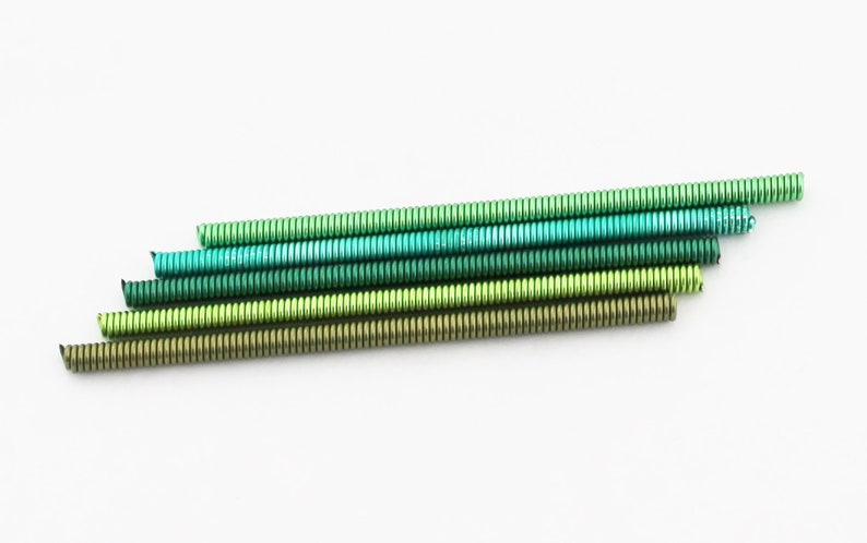 Jewelry Findings DIY Jewelry Wire Spiral Wire FIVE 3 Green Wire Coils The Blue Hutch Colored Findings Craft Wire Coiled Wire
