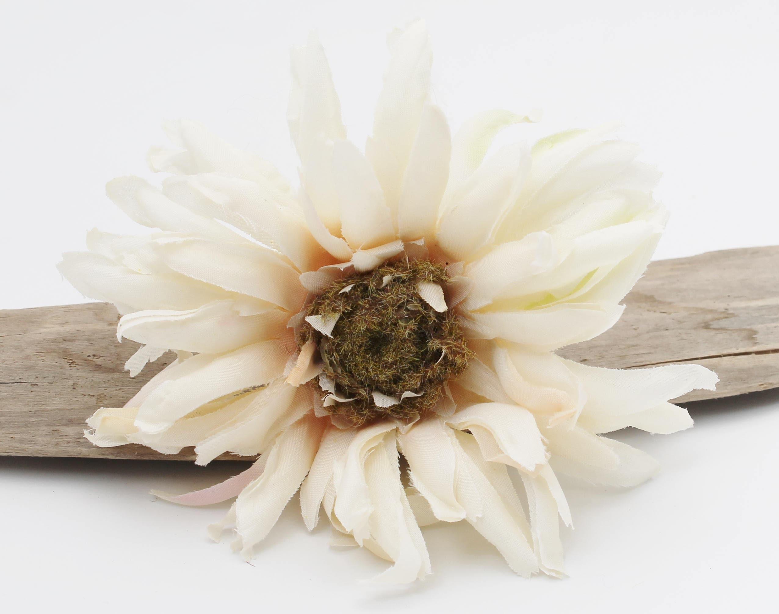 Creamy White Gerbera Daisy | Artificial Silk Flower Stem | Wedding ...