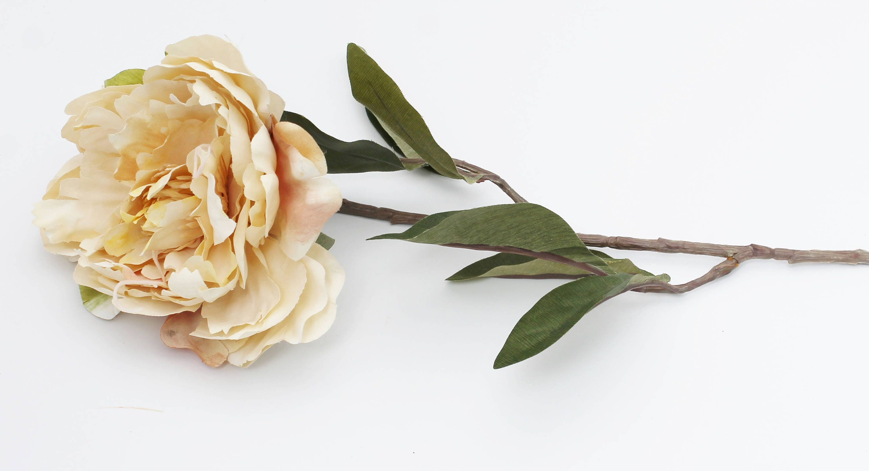 Creamy Ivory Peony | Artificial Silk Flower Stem | Wedding Bouquet ...