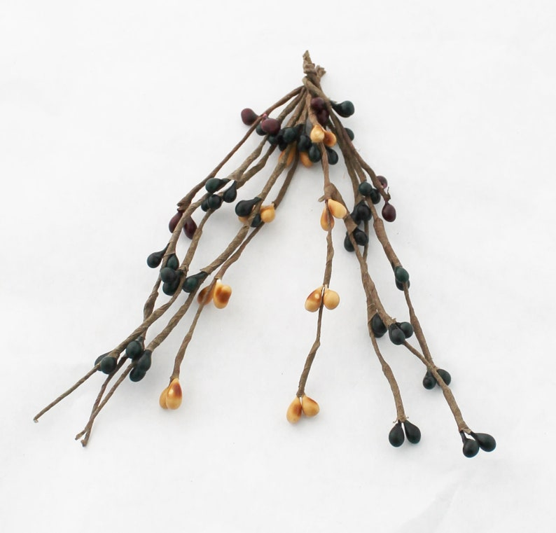 TWO Black /& Yellow Pip Berry Sprays Bouquet Filler Millinery Crafts Berry Pick Pip Berries Artificial Berries The Blue Hutch