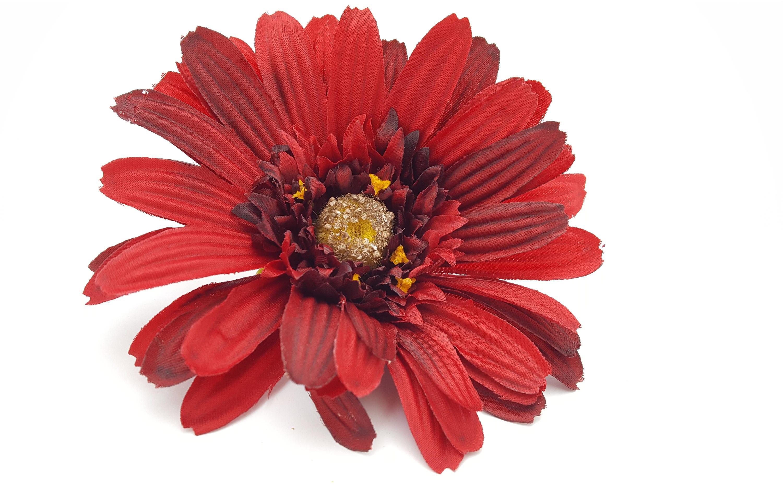 Red gerbera daisy flower crown millinery flowers wedding etsy izmirmasajfo