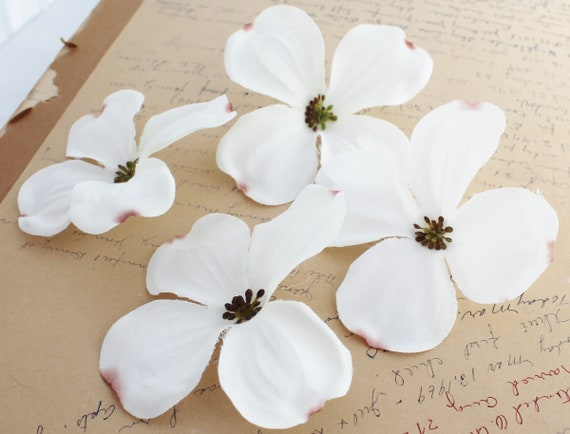 4 White Dogwood Artificial Dogwood Flower Crown Etsy