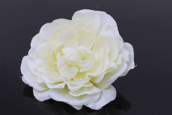 White ranunculus wedding flower crown millinery flowers etsy image 0 mightylinksfo