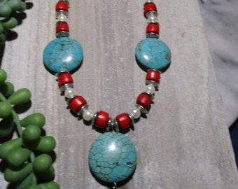 Southwest necklace, Southwest jewelry, Women's necklace, Boho necklace, Unique jewelry, Handmade necklace