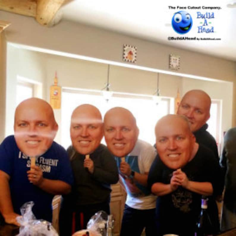 Build A Head >> 40th Birthday Big Head Pack Cutouts On A Stick Make Your Own Etsy