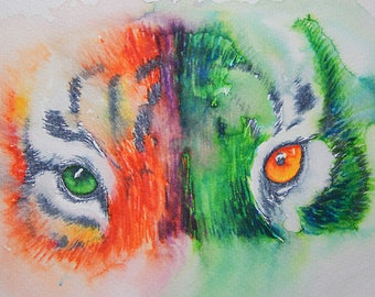 Print: Tiger Eyes