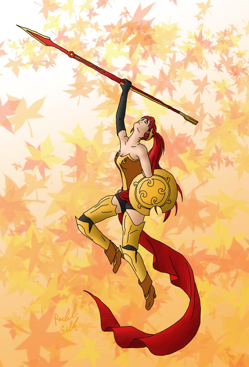 Print: RWBY Pyrrha Fan Art