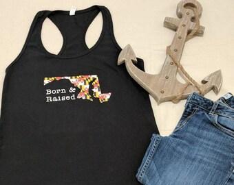 db6a1372e2 Maryland gift idea Maryland Tank for women Maryland shirt gift for her  Maryland flag shirt Crab shirt custom shirt women s tank top for MD