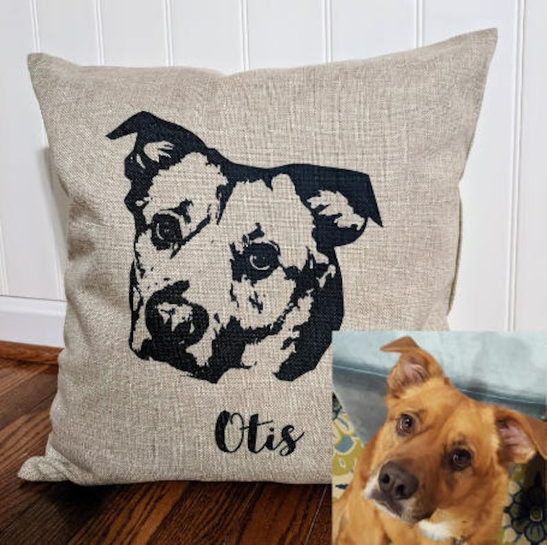 a6a67c954150 Pet loss gift idea dog loss gift in memory of dog pillow | Etsy