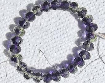 8x6 Faceted Czech Glass Beads