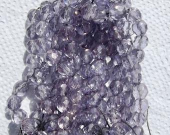 8mm Faceted Czech Glass Beads