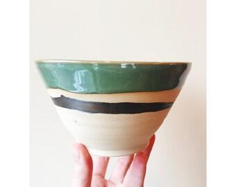 Bronze Accent Green Salad Bowl 3