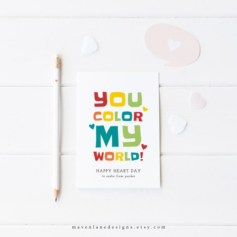 photo relating to You Color My World Printable referred to as Small children Valentines Playing cards: Yourself Shade My International, Printable Crayon Valentine, Quick Down load, Editable, Rainbow, Boy, Lady, Preschool Valentines