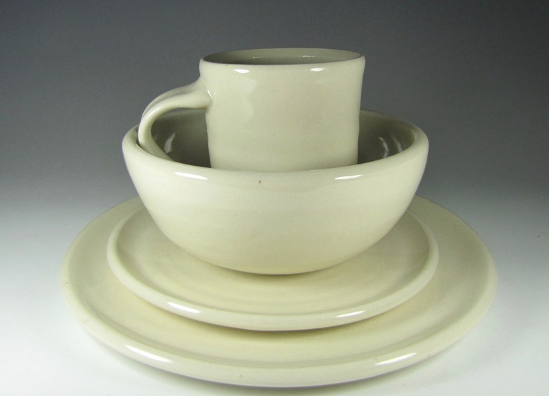 Dinnerware sets place setting dinner ware pottery plates bowls mugs dishes wedding registry handcrafted ceramic dinnerwares