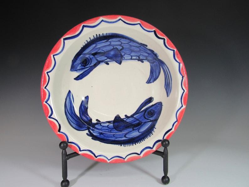 bowls Pottery bowl fish  salad bowl serving bowl pottery  image 0