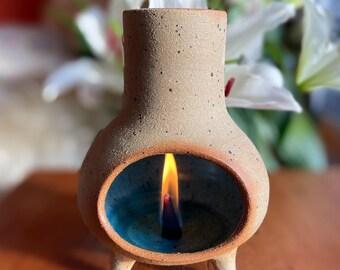 incense burner - chimenea - cone incense burner - pottery incense burner