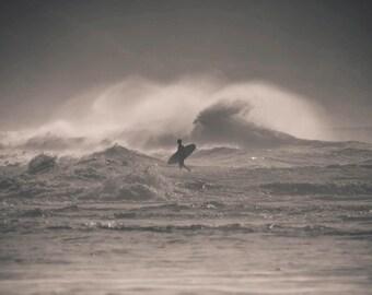 Surf Photography Print - Surfer, Pupukea, North Shore, Oahu, Hawaii - metallic or lustre