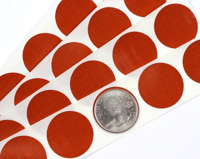 Orange/Red 1 inch Round scratch off stickers