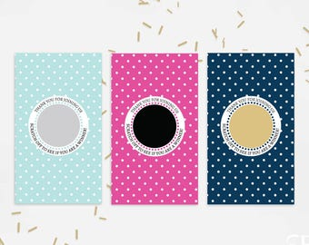 10 Gold Polka Dot Bridal Shower Scratch Off Cards  - Bridal Shower Game - Bachelorette Party Game