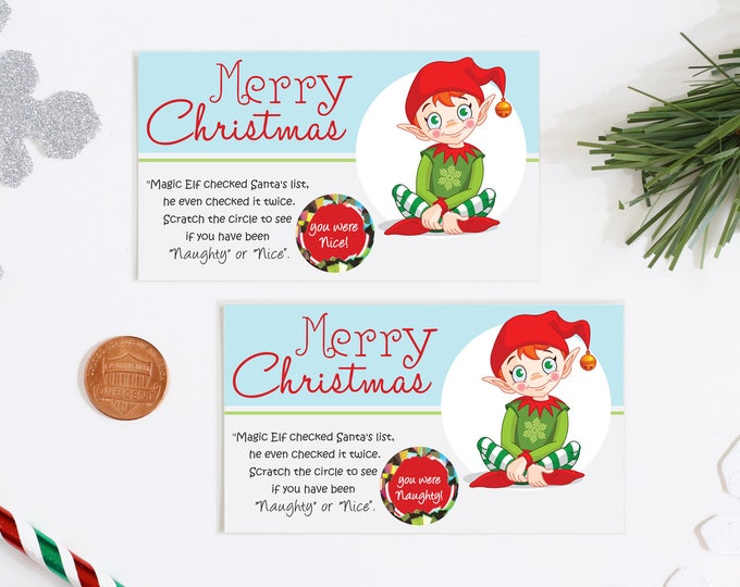 Holiday Scratch Off Game Cards - Holiday Party Game - Christmas Game