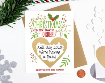 Scratch Off Pregnancy Announcement Card - Pregnancy Reveal - We're Expecting - Greeting Card