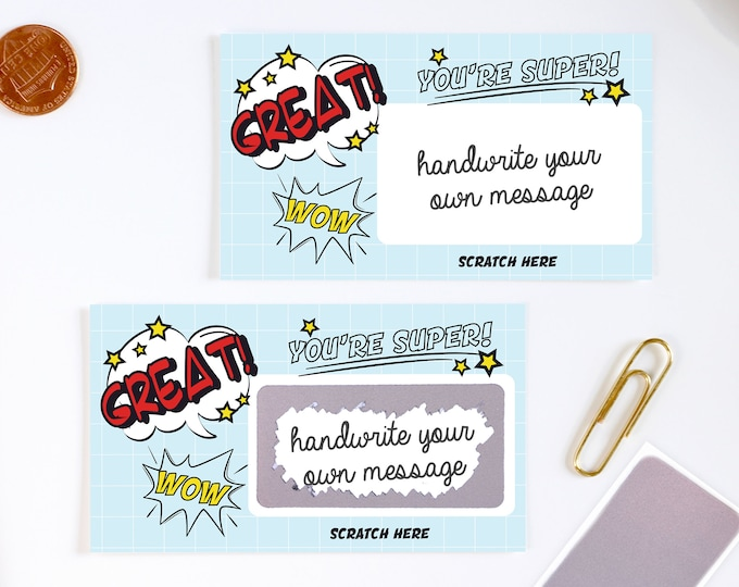 DIY Scratch off Cards Good Job Classroom - Secret Message - Teacher Rewards Card - 10 Cards