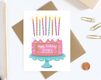 Happy Birthday Scratch To Reveal Card - Personalized Card For Surprise Gift - Surprise Destination Vacation Card - Hidden Message Card