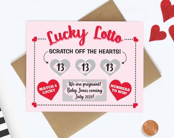 Scratch Off Pregnancy Announcement Card - Pregnancy Reveal - We're Expecting Card