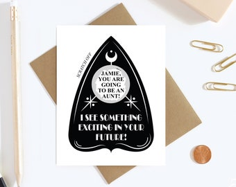 Pregnancy Reveal Scratch Off Card - Pregnancy Announcement - We're Expecting Card
