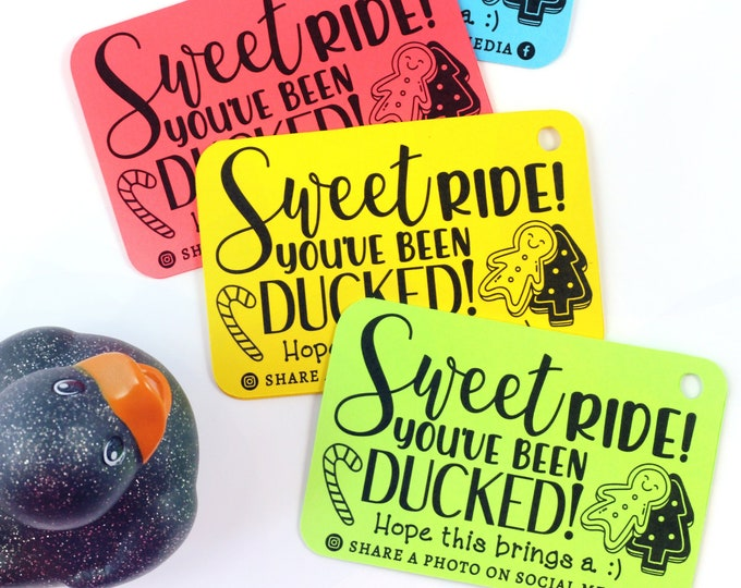 You've been ducked - duck tags - ducking tags - tags for ducking - happy holidays - Christmas ducks